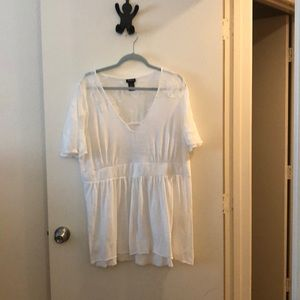 Floral lace tunic top